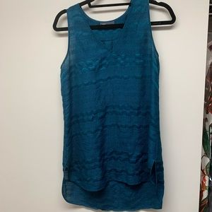 Vince blue tank blouse